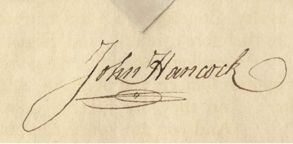 John Hancokc's signature