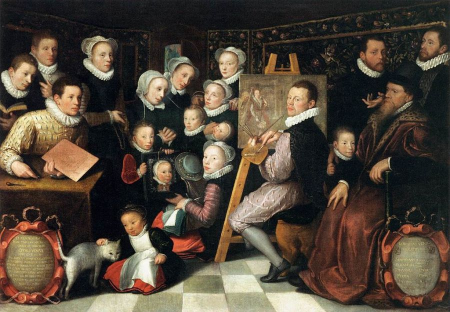 Otto_van_Veen_-_The_Artist_Painting,_Surrounded_by_his_Family_-_WGA24343