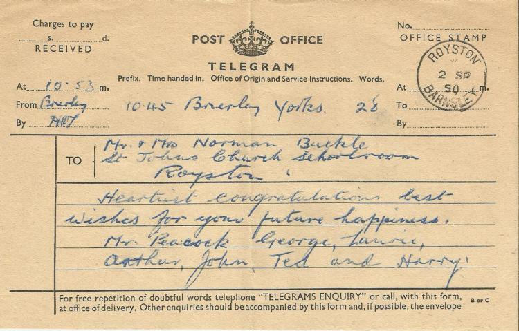 wedding telegram 1950 2