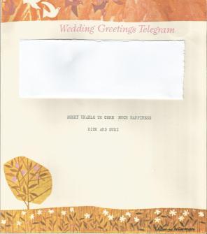 wedding telegram 1976 inside right