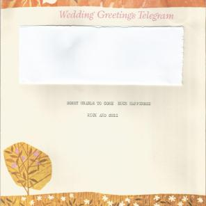 wedding telegram 1976 inside right